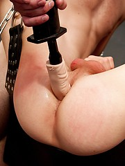 Four rough studs fuck one twink on sling