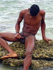 Black straight boy at the nature