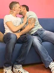 Yummy tattooed boy handles old gay meat