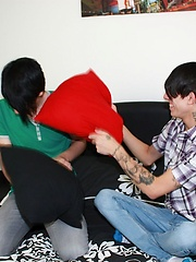 British Emo twinks Tantrum and Alex get together for a very hot sex session