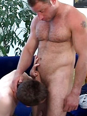Huge old bear plows younger twink butt