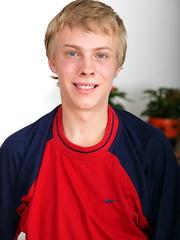 Blnde teen twink boy