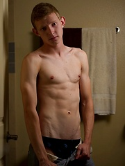 Barely 18yo twink Dallas begins to arouse himself in the shower