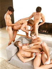 Kinky angels have wild gay sex orgy