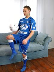 Italian soccer boy exposes his sexy body