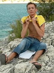 Home made boy Michal takes a trip