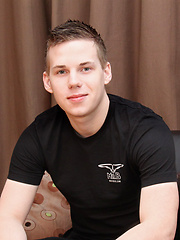 Hot young Manchester boy Ryan Days arrives for his solo wank and interview