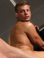 Muscle bound hunk Connor Maguire comes home to find his hot blond twink boyfriend Blade Woods