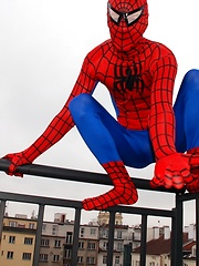 Spiderman Rescues Dick-Lovin Twink With A Thick Serving Of Hard Raw Cock!