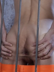 Prison-Boy Takes Every Raw Inch That His Buff Guard Has To Offer!