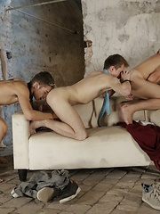 A Celebratory Gangbang Gets This Bunch Of Horny Beauties All Fucked Up & Spurting Spunk!