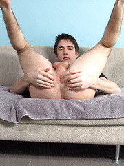 Twink plays with his ass & cock
