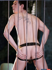 Handcuffed & Humiliated, Johny Cruz Gets Tormented & Fucked For A Horny Guy's Pleasure!