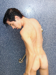 An Ass Play Jack Off In The Shower