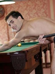 Forget Billiards. These Two Studs Wanna Empty Their Balls Into Yuri Adamov's pockets!