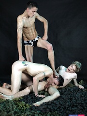 Kinky Threesome Gets This Perverse Bunch Of Twinks Shamelessly Fucking & Creaming!